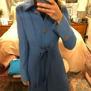 J. Crew blue 3/4 length jacket with tie - Size 8